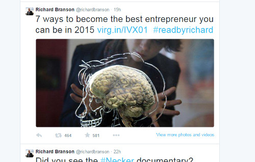 Influencer Tweet – Richard Branson