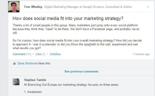 B2B Marketing Tactics - LinkedIn Group Distribution
