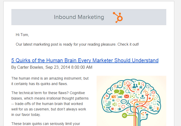 Thought Leadership Marketing Email