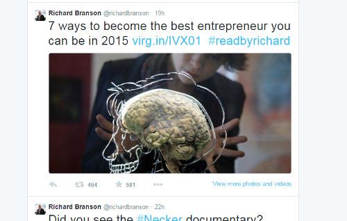 Influencer Tweet – Richard Branson