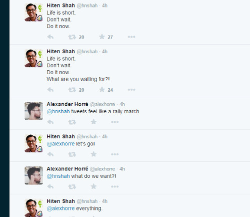 Influencer Twitter Conversation