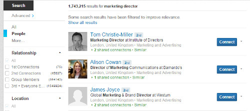 LinkedIn Search For Buyer Personas