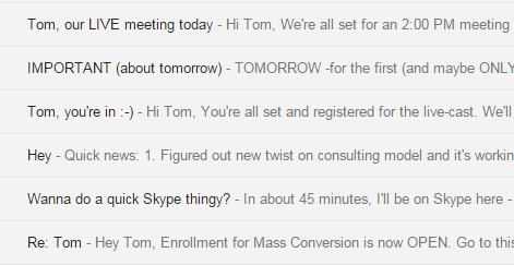 Email Copy - Subject Lines