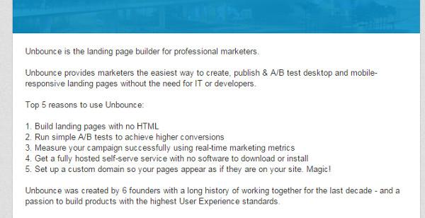LinkedIn Marketing Company Description