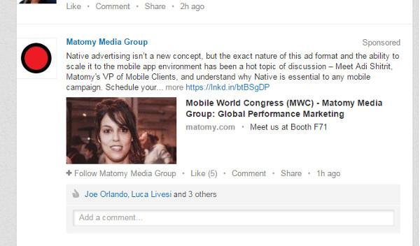 LinkedIn Marketing Sponsored Updates
