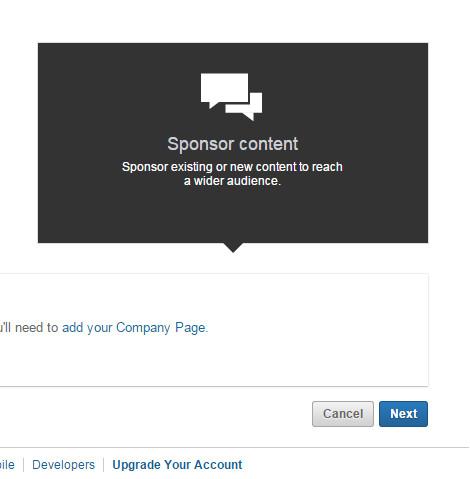 LinkedIn Marketing Sponsored Updates Setup