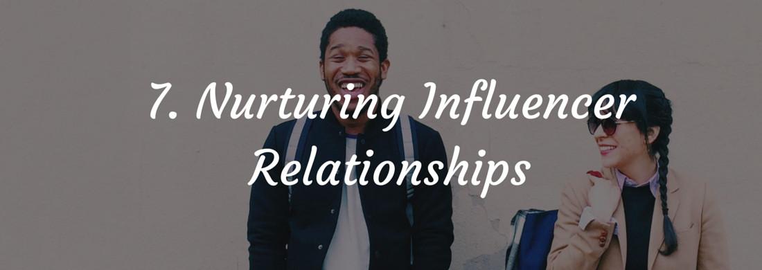 Influencer Marketing – Nurturing Relationships