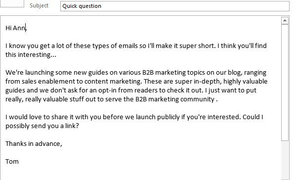 Influencer Marketing – Outreach Email