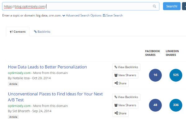 B2B Marketing Tactics - BuzzSumo