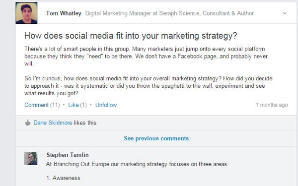 B2B Marketing Tactics - LinkedIn Group Distribution