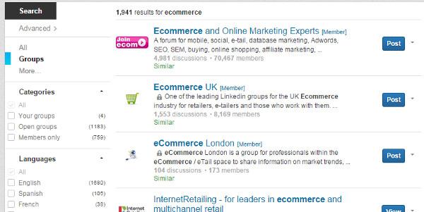 B2B Marketing Tactics - LinkedIn Group Search